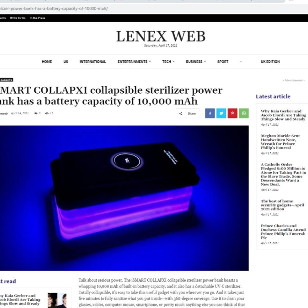 Media Coverage for UVC Sterilizer Wireless Powerbank