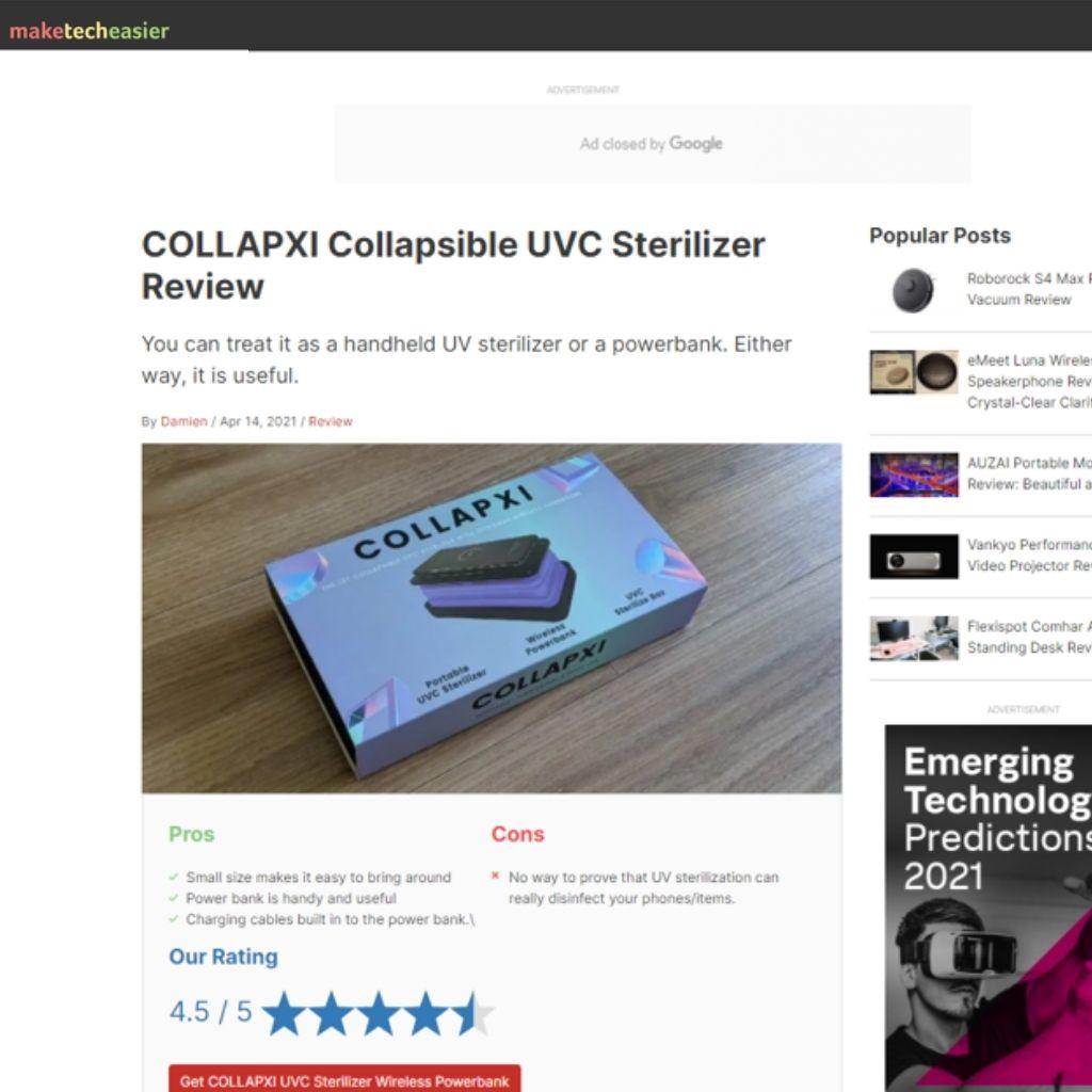 UVC Sterilizer Wireless Powerbank Media