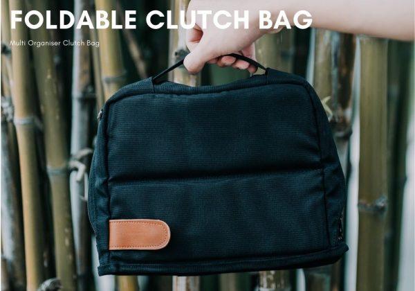 Foldable work clutch bag gadget organizer