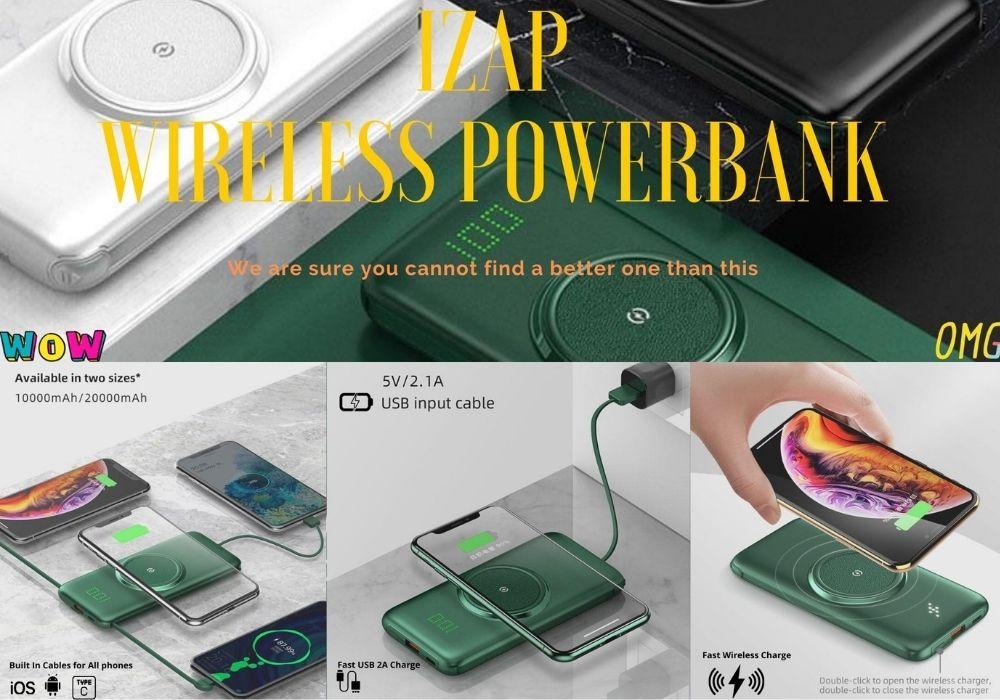 IZAP Wireless 10000mah iSMART Creations Powerbank