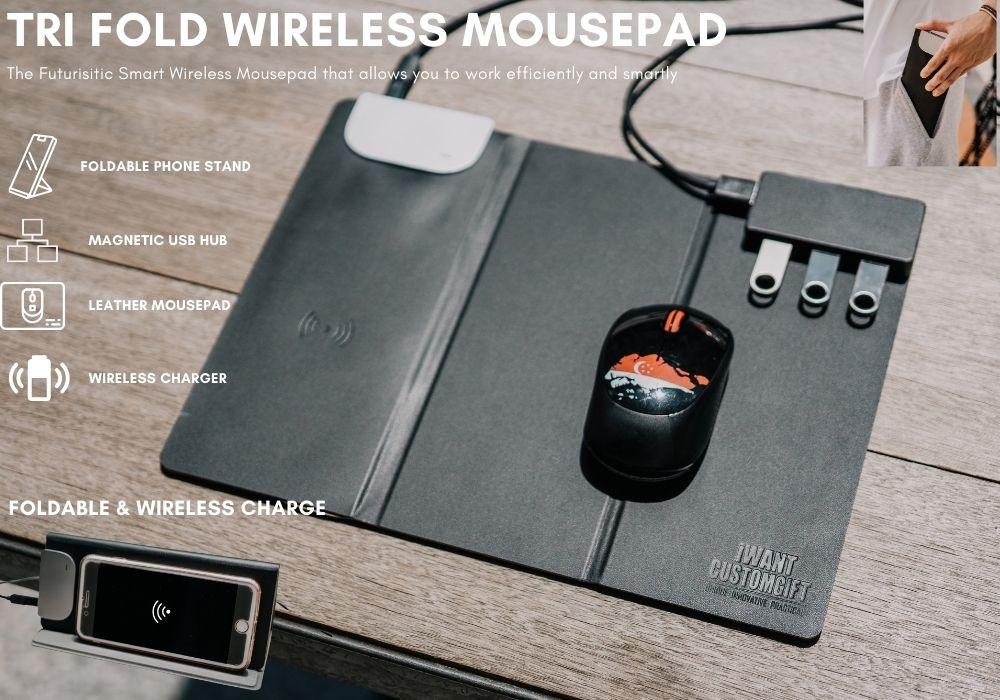 Tri Fold Mousepad