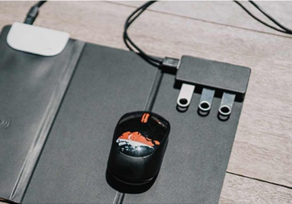 Tri Fold Wireless Mousepad